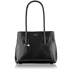 Radley - Large black leather 'Boundaries' shoulder bag