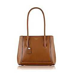Radley - Large tan leather 'Boundaries' shoulder bag