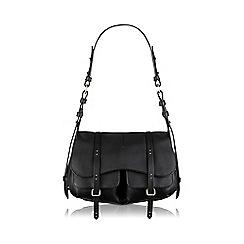 Radley - Medium black leather 'Grosvenor' shoulder bag