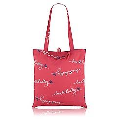 Radley - Pink 'Love Radley' fold away tote
