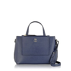 Radley - Navy Arlington street medium ziptop multiway summer fig bag