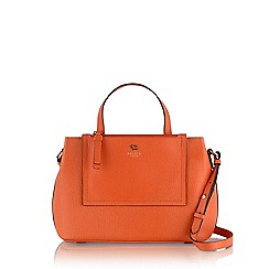 Radley - Orange Arlington street medium ziptop multiway mandarin bag