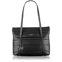 Radley - Black Berwick Street medium flapover tote bag