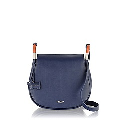Radley - Navy Hyde Park medium flapover cross body bag