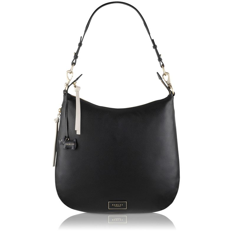 Radley Black Pudding Lane large hobo bag
