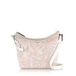 Radley - Pale pink Wild Palms medium cross body bag