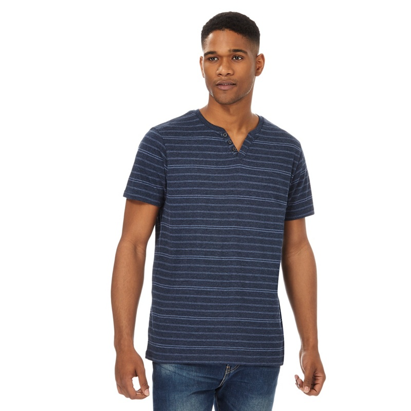 Maine New England Big and tall navy striped t-shirt