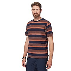 Maine New England - Big and tall black and orange feeder striped t-shirt