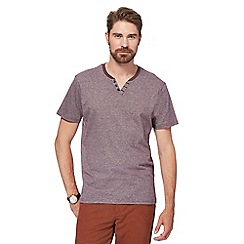 Maine New England - Plum feeder notch striped t-shirt