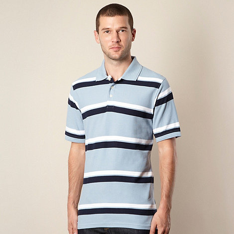 Maine New England - Light blue multi striped polo shirt
