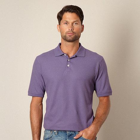 Maine New England - Mauve pique polo shirt
