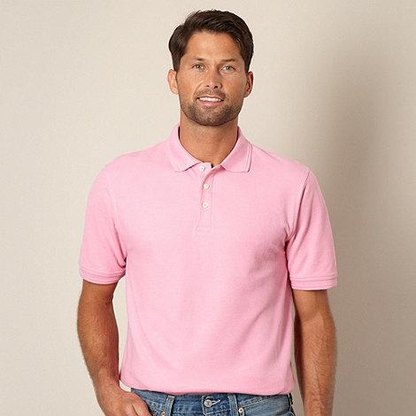 Maine New England - Bright pink pique polo shirt