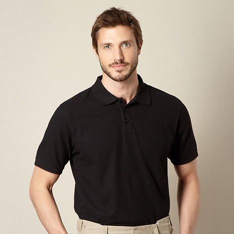 Maine New England - Black plain polo shirt