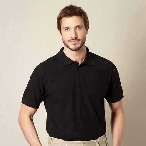Maine New England - Black plain polo shirt