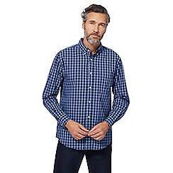Maine New England - Navy checked shirt
