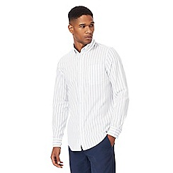 Maine New England - Big and tall white striped tailored fit shirt