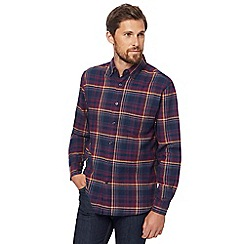 Maine New England - Big and tall dark purple checked shirt