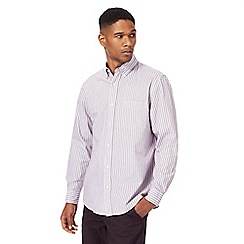 Maine New England - Big and tall purple and white striped shirt