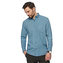 Maine New England - Blue mini circle print shirt