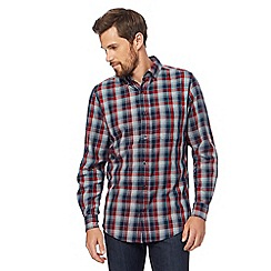 Maine New England - Big and tall grey checked tailored fit shirt