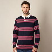 Big and tall light purple striped rugby shirt