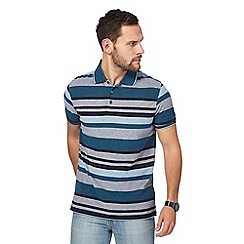 Maine New England - Dark blue striped polo shirt