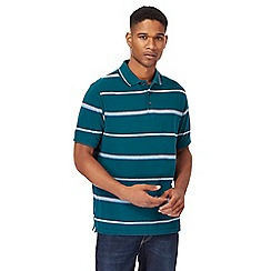 Maine New England - Big and tall green striped polo shirt