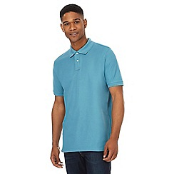 Maine New England - Big and tall blue tipped placket polo shirt