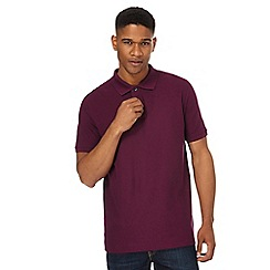 Maine New England - Big and tall dark red tipped placket polo shirt