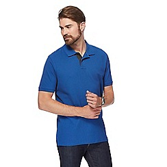 Maine New England - Big and tall mid blue contrast placket pique polo shirt