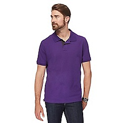 Maine New England - Big and tall purple contrast placket polo shirt