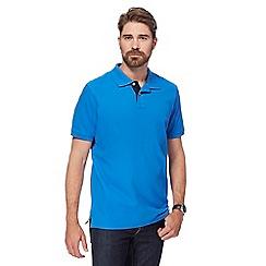 Maine New England - Bright blue contrast placket polo shirt