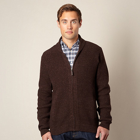 Maine New England - Chocolate knit cardigan