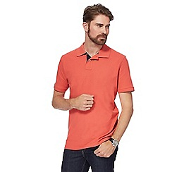 Maine New England - Peach contrast placket pique polo shirt