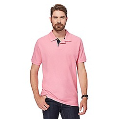 Maine New England - Big and tall bright pink contrast placket polo shirt