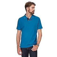 Maine New England - Big and tall blue contrast placket polo shirt