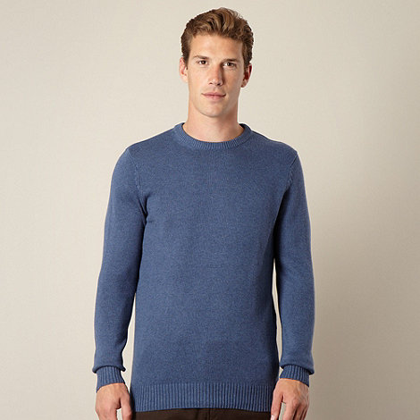 Maine New England - Mid blue crew neck jumper