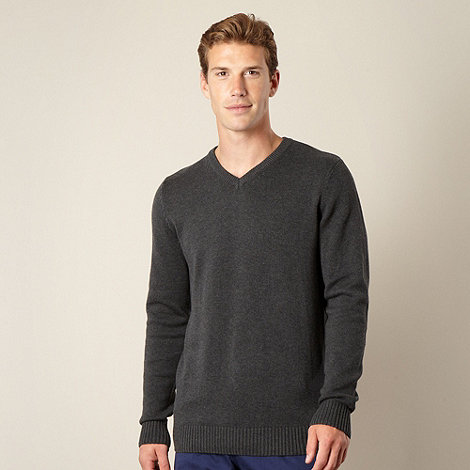 Maine New England - Dark grey V neck jumper