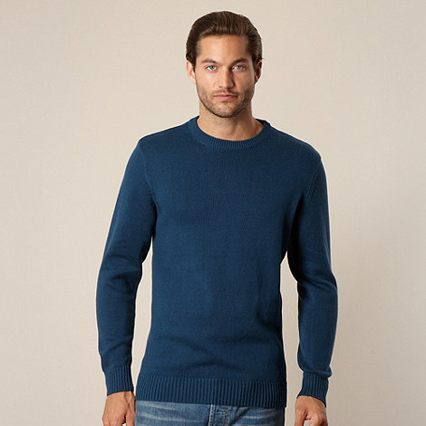 Maine New England - Big and tall teal crew neck jumper