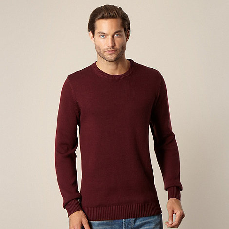 Maine New England - Big and tall maroon crew neck jumper