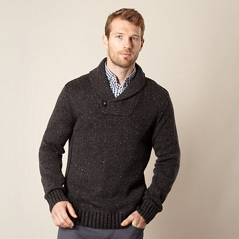 Maine New England - Nep shawl neck jumper