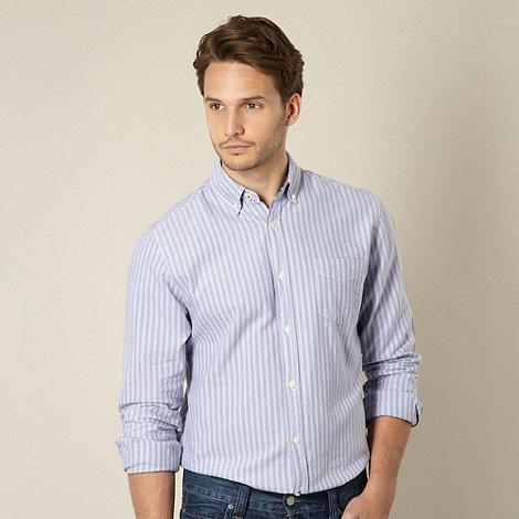 Maine New England - Blue fine striped oxford shirt