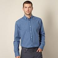 Royal blue tartan checked shirt