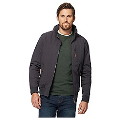 Maine New England - Big and tall dark grey shower resistant blouson jacket