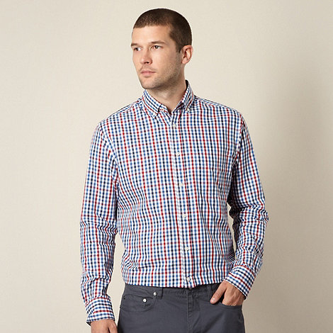 Maine New England - Blue and red gingham checked shirt