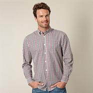 Big and tall green graduating gingham check shirt