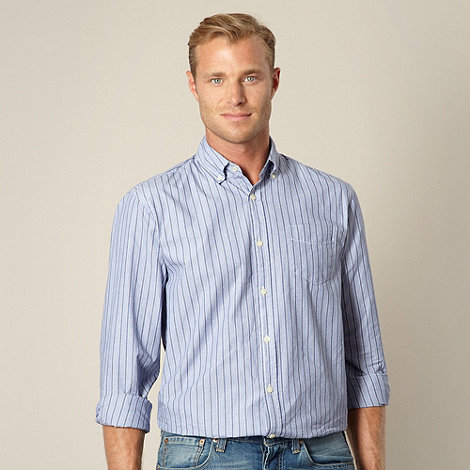 Maine New England - Royal blue multi striped shirt