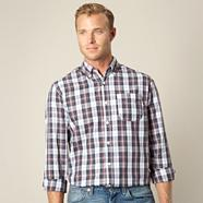 Big and tall grey check shirt