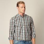 Big and tall green checked shirt