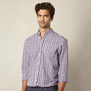 Big and tall dark pink multi gingham checked shirt
